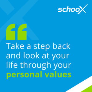 Take a step back and look at your life through your personal values
